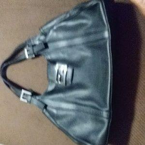 FENDI black leather bag